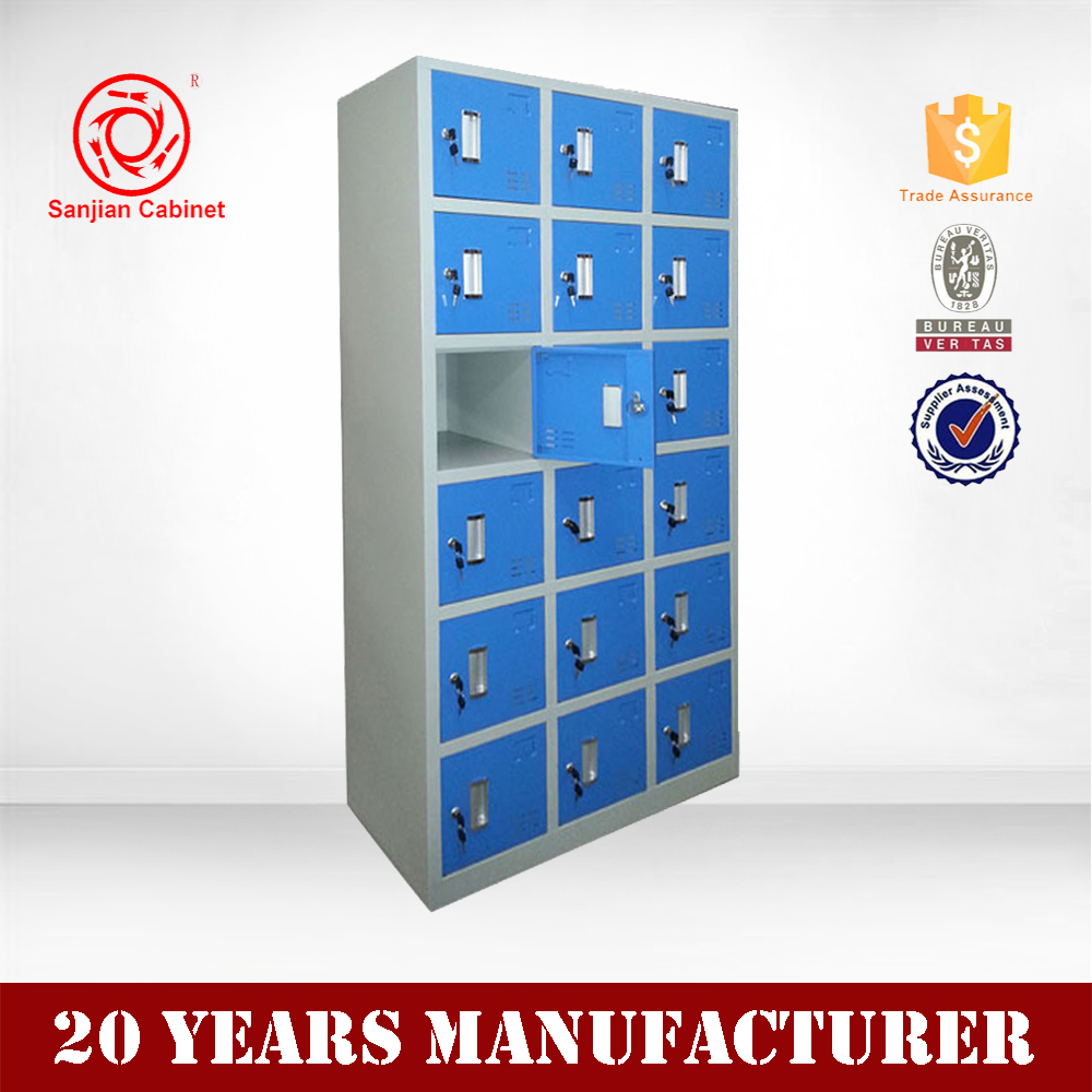 Good steel metal student locker colofour cabinet 18 door for 18 door locker