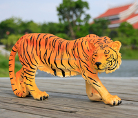 resin bowing large tiger statue garden ornament