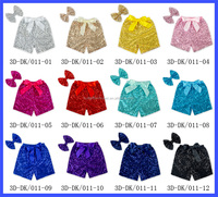 2016 Sequin shorts kids boutique toddler girls shorts colorful baby girl shorts