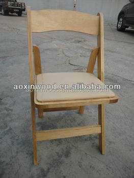 cheap wood folding dining chair