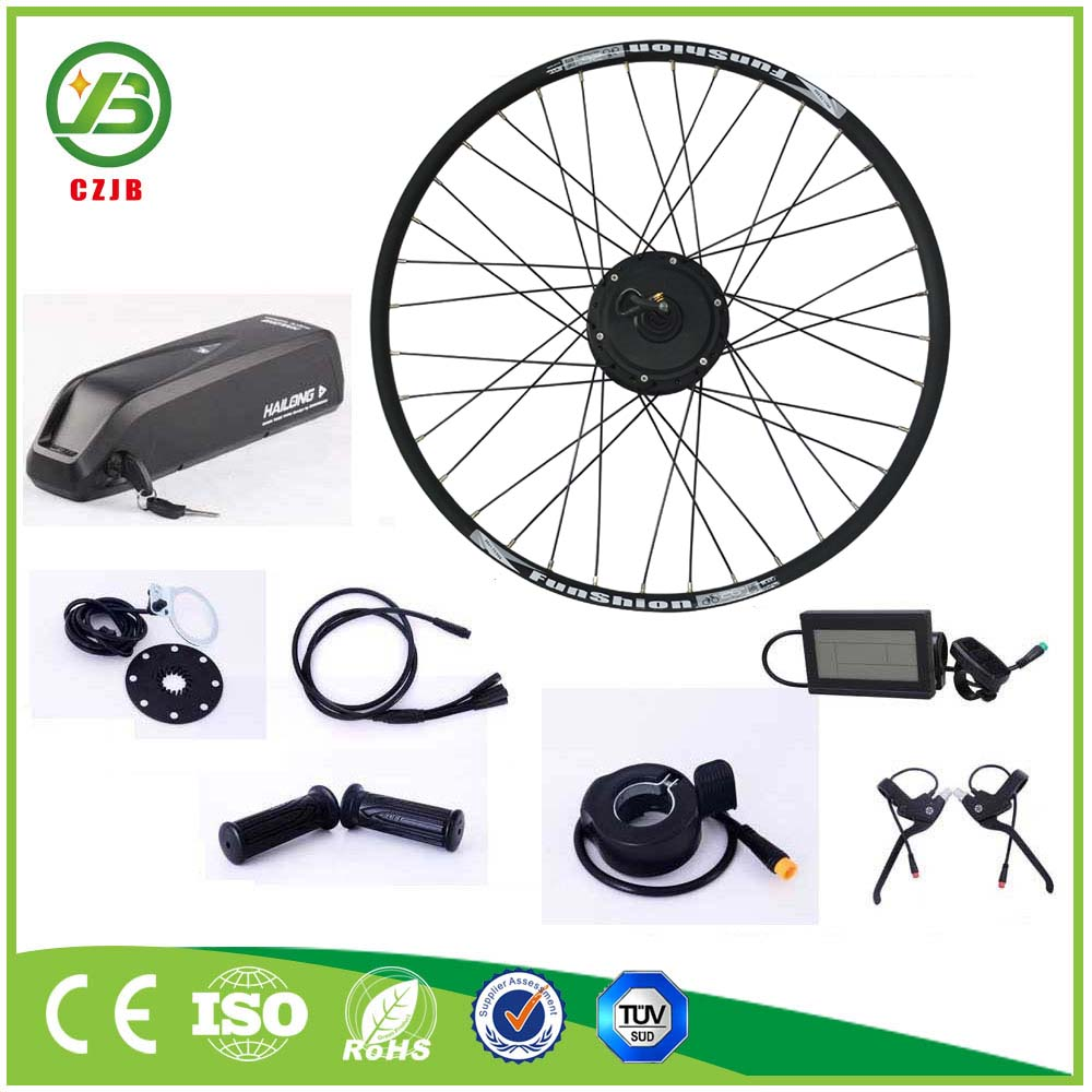 CZJB 36v 250w Rear Brushless Electric Bike Geared Motor Conversion Kit