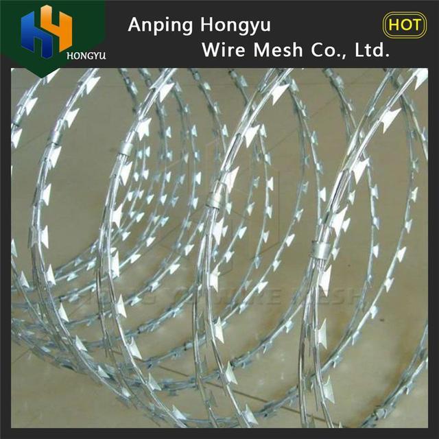 Factory direct sales bto 30 concertina razor wire (ISO 9001)
