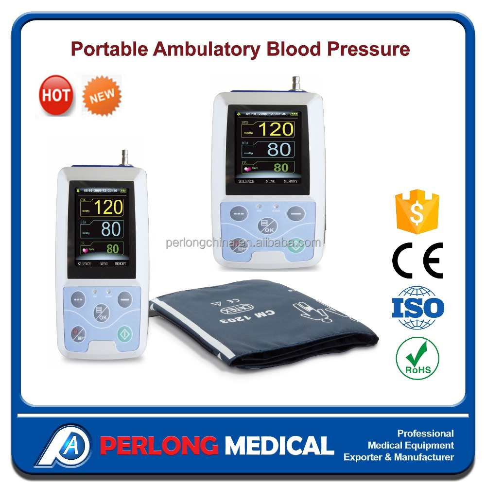 Cheap price Hospital Manufacturers PC software 24 hour recording Ambulatory rechargeable digital blood pressure