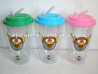 Promotion hot new products of coffee cup with fodable straw