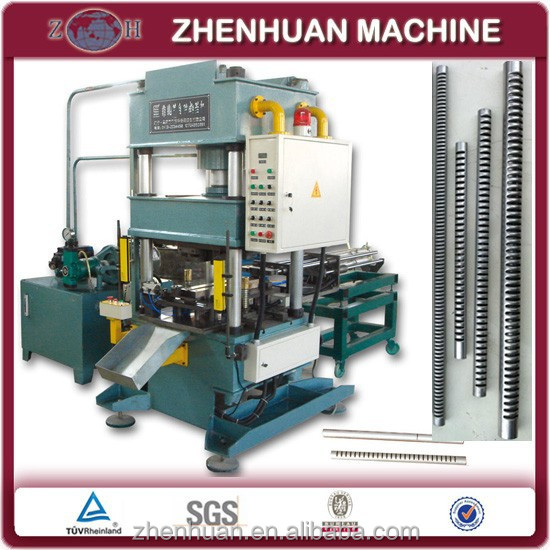 Automatic hydralic condenser header tube machine for automotive radiators