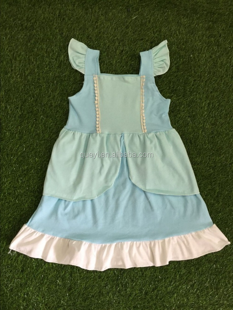 New hot summer children small fresh mint green dress wholesale price
