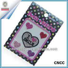 Hot Sale Heart Shape Jewelry Rhinestone Sticker For Kids