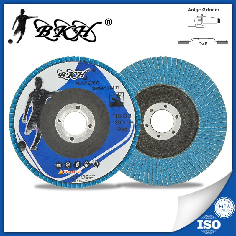 "grit60 flap disc zirconia for stainless steel granite polishing abrasives 4.5"" 115x22mm"