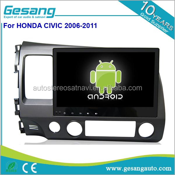 Full Touch Screen 2 Din Car Stereo DVD Player car Radio with GPS Navigation System for Honda Civic 2006-2011