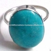 Fashion Blue Turquoise 925 Sterling Silver