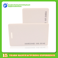 ABS 1.8mm T5577 clamshell proximity card thick with serial numbers printing