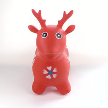 Hopping Deer Christmas Toys Gift Ride Deer Inflatable Jumping Deer with ECO-friendly PVC Jumping