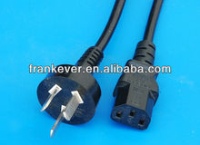 C7 3Pin Argentina POWER CORD with tail plug Made in China