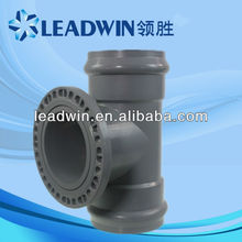 sch 40 pvc fittings with flange(rubber joint),pvc pipe fittings with rubber joint