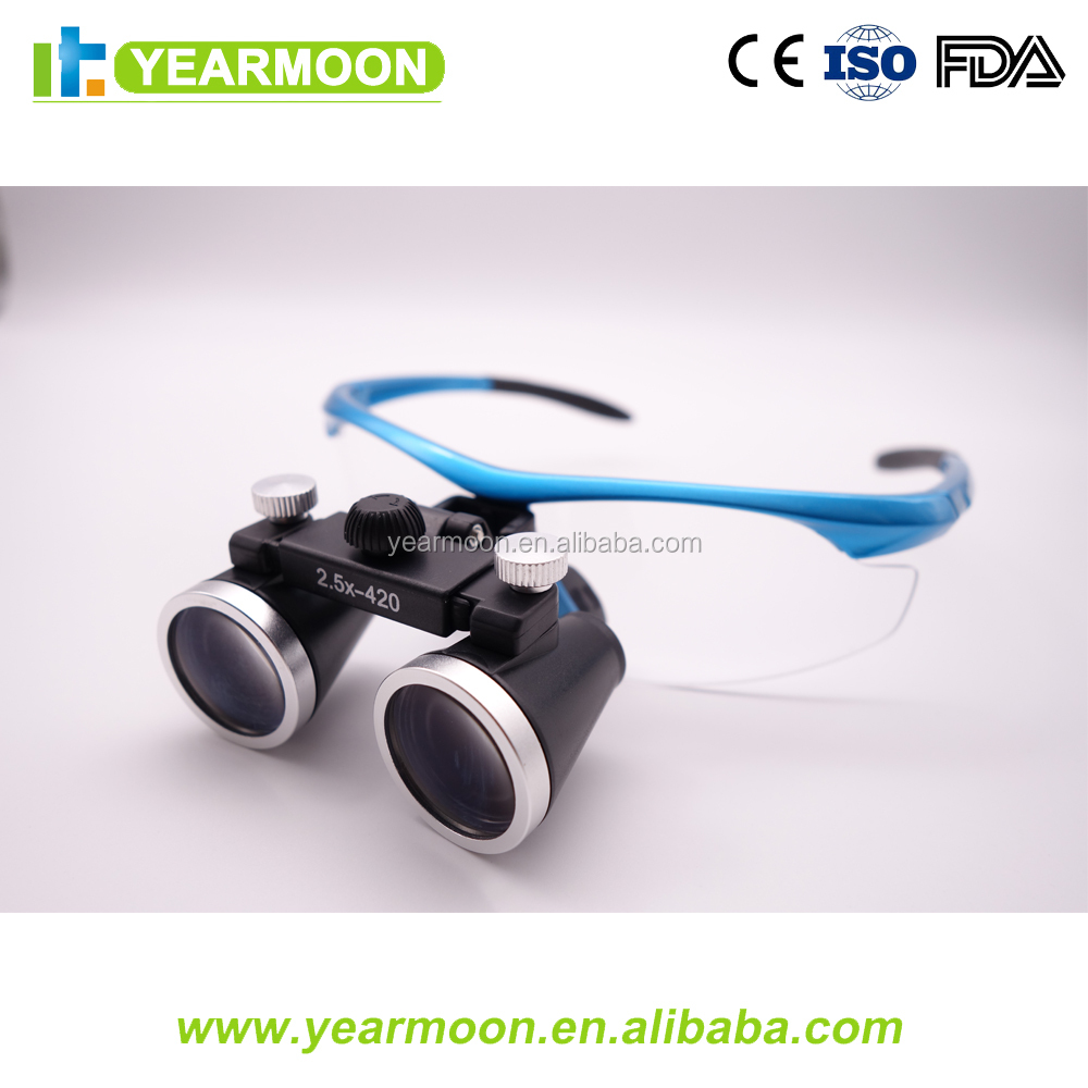 Fashion zeiss Dental equipment medical magnifying glasses with LED light Dental microsurgery surgical loupes