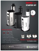 Online shopping electronic cigarette 1000mA 7ml kanger dripbox kit