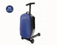 2014 best selling black color aluminum alloy trolley suitcase