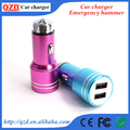 Stainless steel emergency escape hammer dual car charger usb
