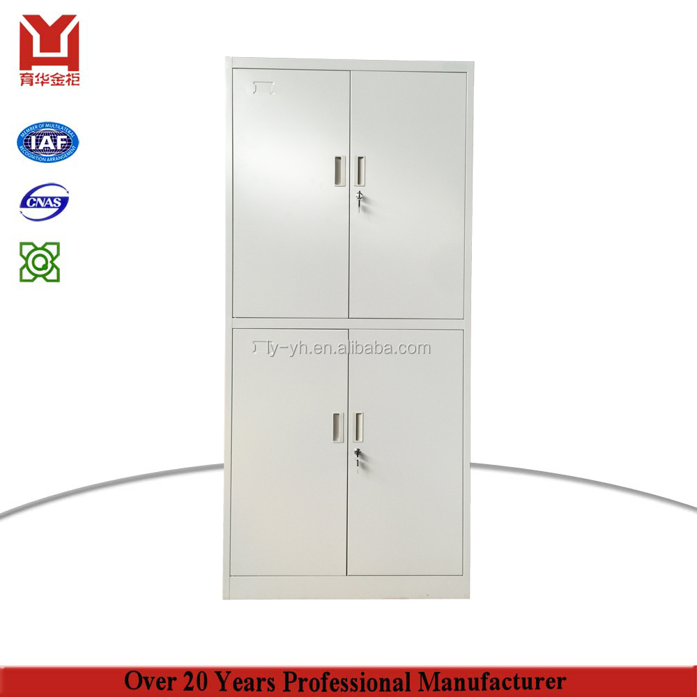Full Height Foldable Four Doors Metal Hospital Cabinet Furniture Steel Medical Storage Cabinet Iron Wardrobe