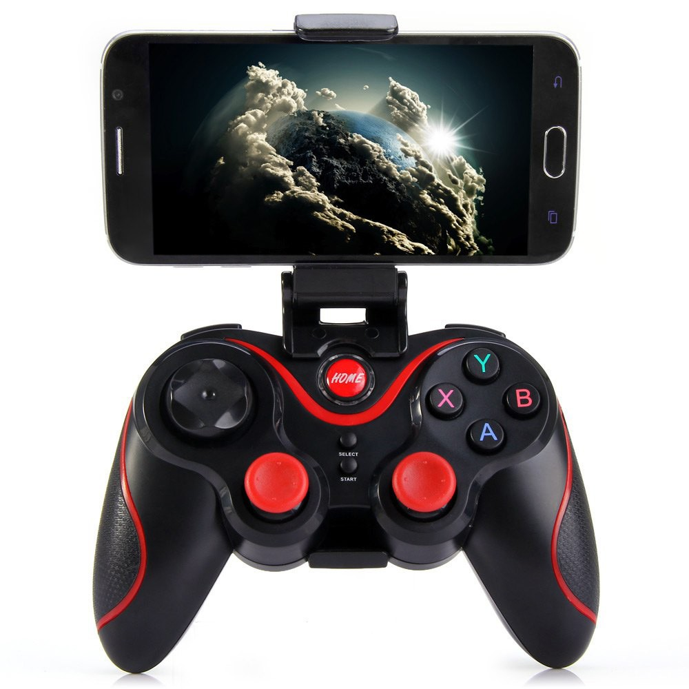 Wireless Bluetooth 3.0 Gamepad Joystick Game Controller for Android Smartphone iphone Mobile Phones PC TV BOX Holder Included