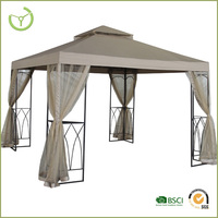 round outdoor metal decorative gazebo with metal roof