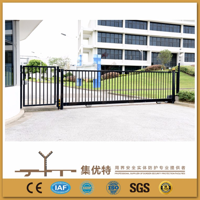 Manual track used to factory wrought iron grill gate design