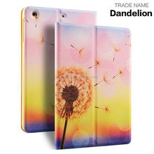 For iPad mini 4 PU Leather Case 7.9 inch Shockproof ultra-Slim Colorful Print Stand Cases For Apple iPad mini 4 Protective Cover
