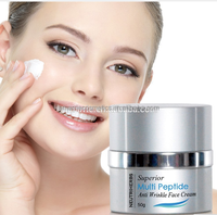 Raw material vitamin c face medicated whitening cream anti aging superior multi peptide face cream