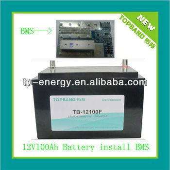 Long lifecycle 12V lithium battery pack for solar