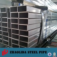ASTM A500 Steel Pipe Building Material Q195 80mm Pre-galvanized Square Hollow Section Pipe