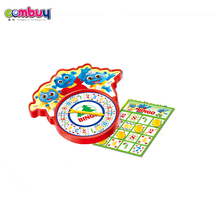 Top selling educational kids play learning turntable bingo game set