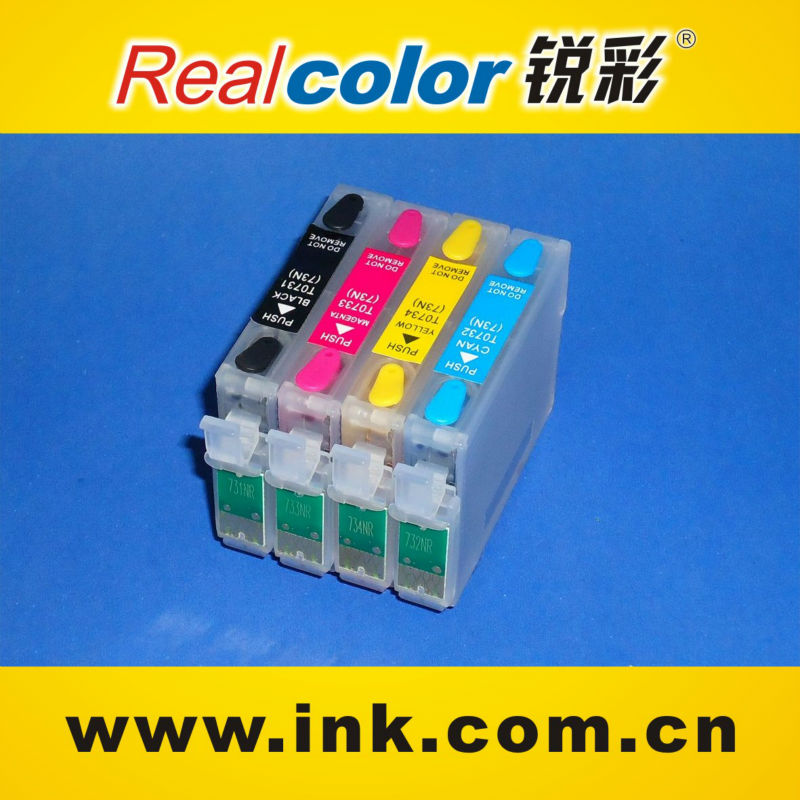 hot products refillable ink cartridge for epson T0731N-T0734N ink cartridge
