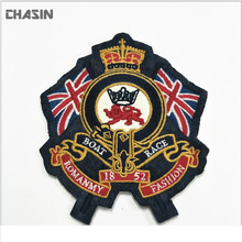 Custom crown of the British POLO shirt embroidery patch with iron on chest