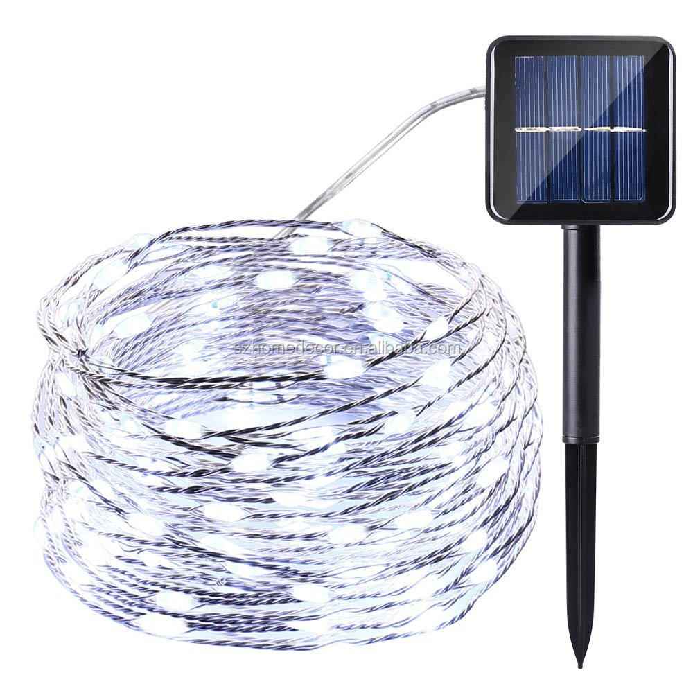 Solar String Lights, 7M 50LED Waterproof Fairy Copper Wire Starry String Lights for Christmas,Wedding and Holiday Decoration