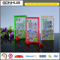 Thin Rectangular Customized Printed Clear Folding Plastic Boxes For Packaging