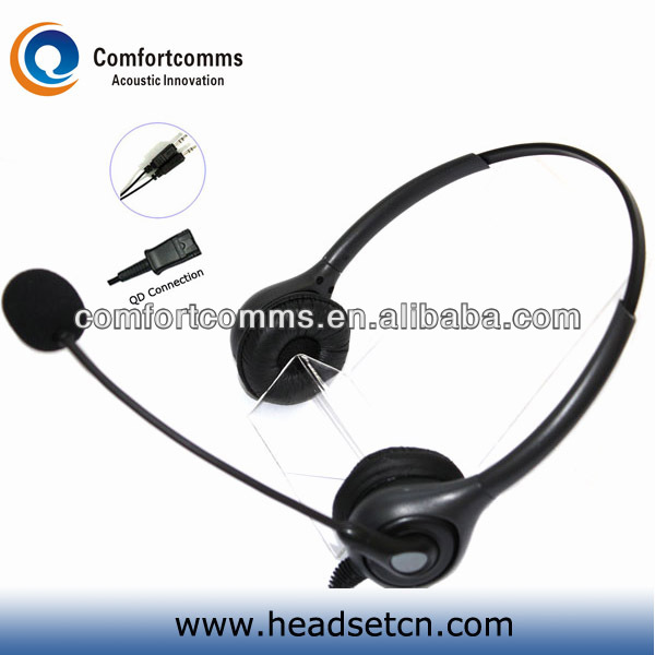 Noise canceling call center headset with 3.5mm double jack HSM-602NPQDJ3.5D