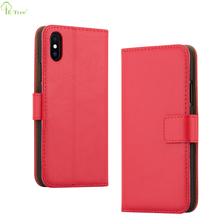 Free Sample Folio Flip Cover Card Slot Pu Leather Case For iPhone X
