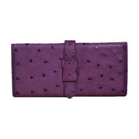 Ostrich Leather Wallets Women Handmade Leather Wallets 2014 Fashion Trendy Wallets for Women