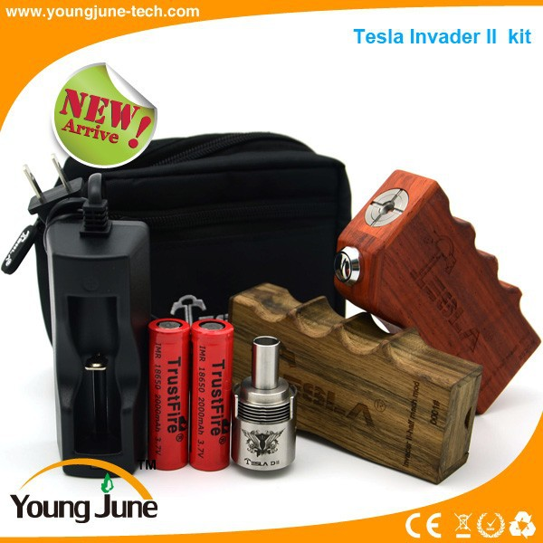 Ecig box mod Tesla invader II mod with Wholesale Price TESLA II box mod suit for all 510 atomizers