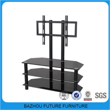 Modern new design glass metal tv stand made in China