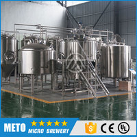 1000L German turnkey wheat or barley beer making machine for pale ale and bright lager