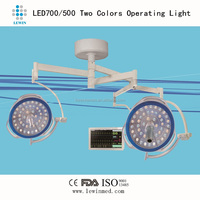 Double head LED OR surgical light LED700/500 with camera