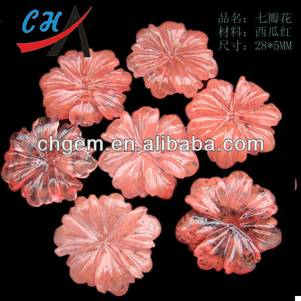 cherry quartz flower carving accessory crafts