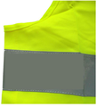 green safety vest with pouch