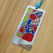 Gifts wholesale transparent metal bookmarks
