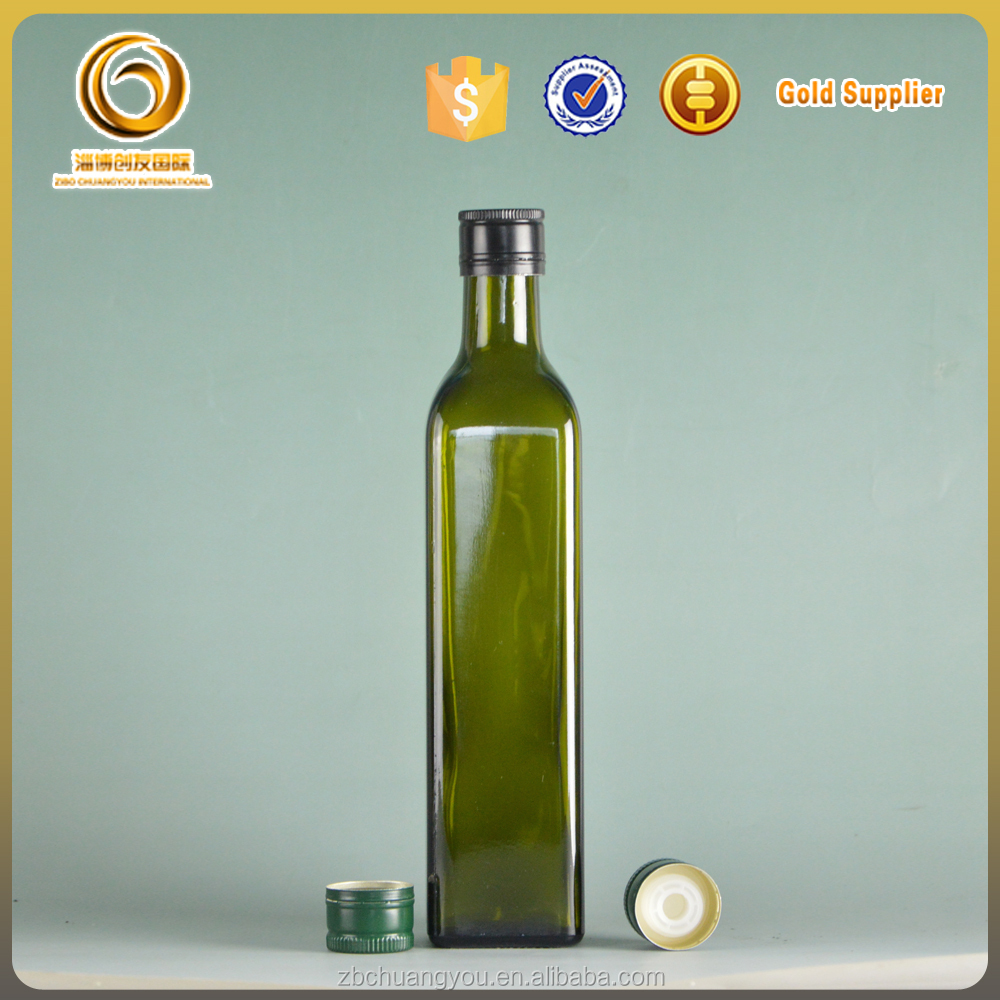 Wholesale 500ml standard cooking oil glass bottle size