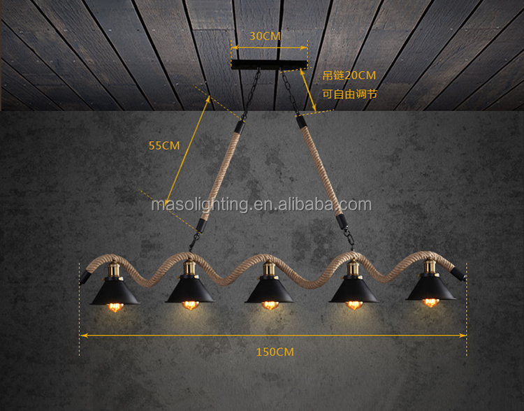 Maso chandelierslamps indoor lights with bulb zhongshan lighting factory ceiling pendant lamp