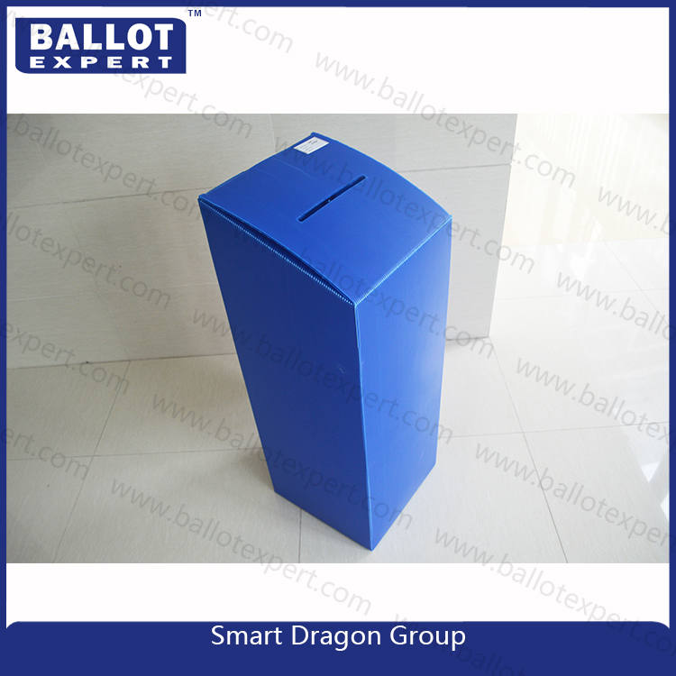 Security ballot box PP hollow sheet folding corrugated plastic box with removable lid