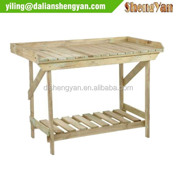 Potting Bench Garden Planting Table In Cedar Wood