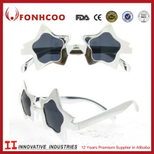 FONHCOO Custom White Star Shaped Party Sunglasses Festival Glasses For Children